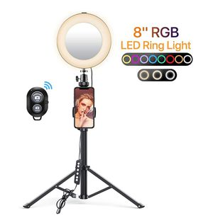 """Miracase 8"""" Ring Light with Stand, 14 Colors RGB LED Ring Light with Tripod Stand for Sale in Orlando, FL"""