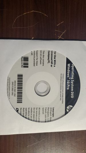 HP WINDOWS 10 PRO 64BIT RECOVERY DISK for Sale in Manteca, CA