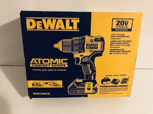 DeWALT DCD708C2 ATOMIC 20V MAX 1/2 in. Brushless Drill Driver Kit New for Sale in Orlando, FL