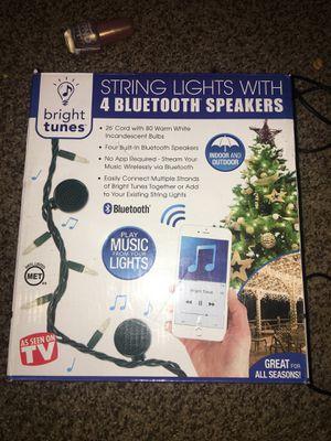 String Lights WITH 4 Bluetooth Speakers IN DOOR and OUT DOOR LIGHTS for Sale in Villa Rica, GA