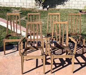 Mid Century Modern Broyhill Walnut Dining Chairs for Sale in Garden Grove,  CA