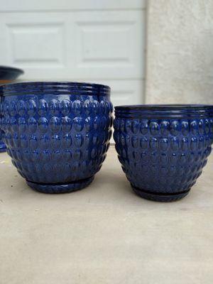 """New Planting Pot """"Dia Blue Barossa 18in. & 14in."""" $100$ ObO😷 for Sale in San Bernardino, CA"""
