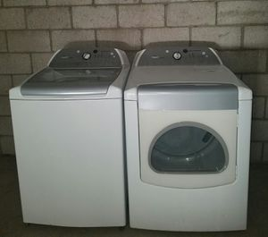 Whirlpool cabrio kingsize capacity glass top washer and electric dryer set for Sale in Phoenix, AZ
