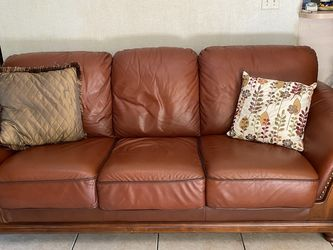 Two Brown Leather Couches for Sale in Miami,  FL