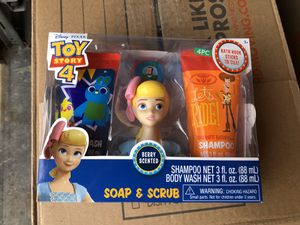 Toy story 4 soap and scrub for Sale in Salem, OR