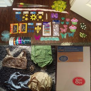 Arts and crafts lot....material, canvases, stamps, ribbon, iron on patches, etc for Sale in Calumet City, IL