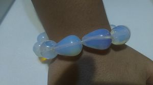 White and clear blue transparent glass beaded bracelet. Really pretty. for Sale in Pasadena, TX
