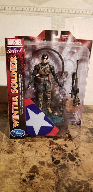 "Disney Store Winter Soldier 7"" Marvel Diamond Select Bucky Barnes NEW Limited for Sale in Ferguson, MO"