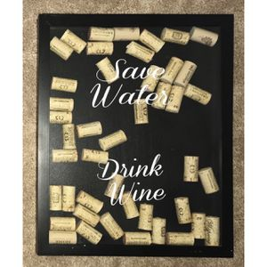 """🍷 """"Save Water Drink Wine"""" Sign with Corks for Sale in Gaithersburg, MD"""