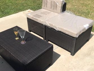 Patio Couch/ 2 Chairs And Table, Included Cushion Brand New for Sale in Diamond Bar,  CA
