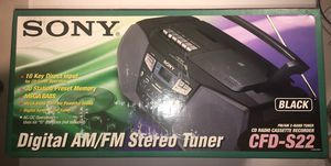 Sony CFD-S22 AM/FM, CD, Cassette Player Recorder Boom Box for Sale in Freehold, NJ