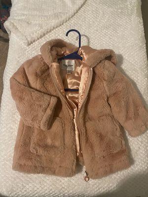 Little girl fur coat quarter sleeve for Sale in Fruitland, MD
