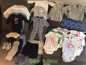 Baby boy clothes 30+ PCS. - Size 6-9mo (some up to 12) for Sale in Los Angeles, CA