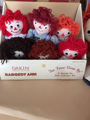 Dakin 6 raggedy Ann Dolls for Sale in Columbia, PA