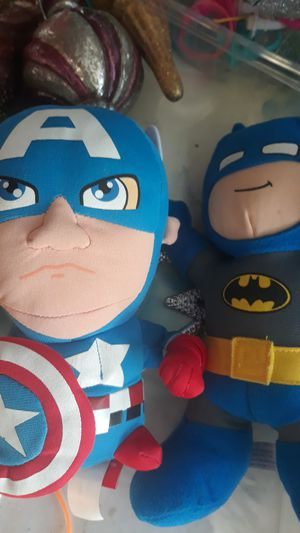 Marvel Avengers Captain America Batman plush dolls for Sale in Carmichael, CA