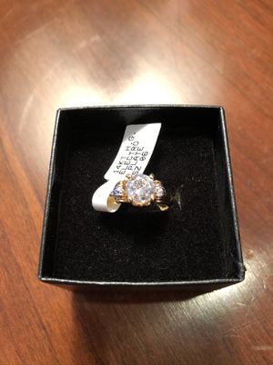 Classic Engagement Ring 14K Gold HGE Plate Cubic Zirconia Size 6 for Sale in Feasterville-Trevose, PA