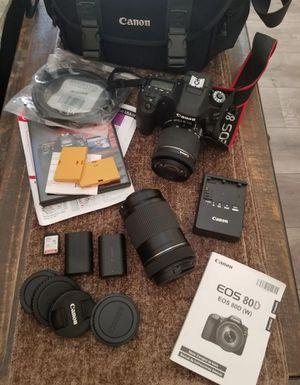Canon EOS 80D professional camera for Sale in Nipomo, CA