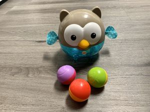 Fisher-Price 2-in-1 baby owl chime ball for Sale in Lancaster, OH