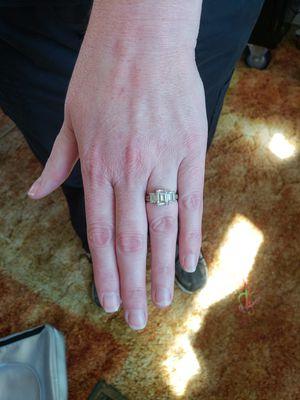 White CZ diamond ring for Sale in Peoria, IL