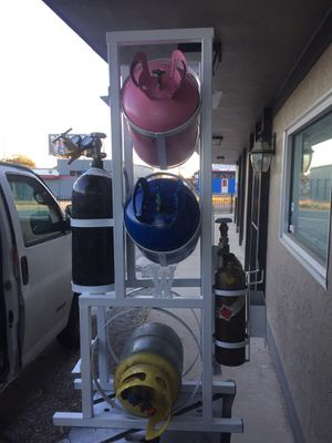 CUSTOM FREON /NITROGEN/ACETYLENE/OXYGEN AND RECOVERY RACK! for Sale in San Antonio, TX