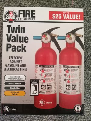 Brand new fire extinguishers. 2 for $20.00 for Sale in Hesperia, CA
