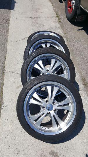Scion xb wheels and Michelin tires 225-45-18 for Sale in Santa Ana, CA