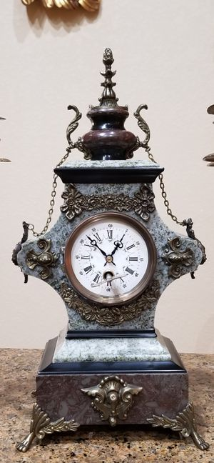 Bronze and marble clock for Sale in Miami, FL