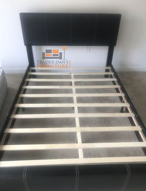 Brand New Full Size Brown Leather Platform Bed Frame for Sale in Silver Spring, MD