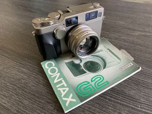 Contax G2 film camera with 45mm f2 Carl Zeiss lens for Sale in Los Angeles, CA