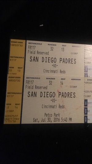 Baseball tickets Padres for Sale in San Diego, CA