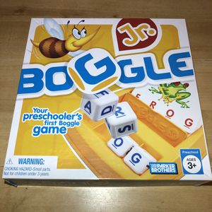 Boggle Jr Game (All Pieces Included) for Sale in Burrillville, RI