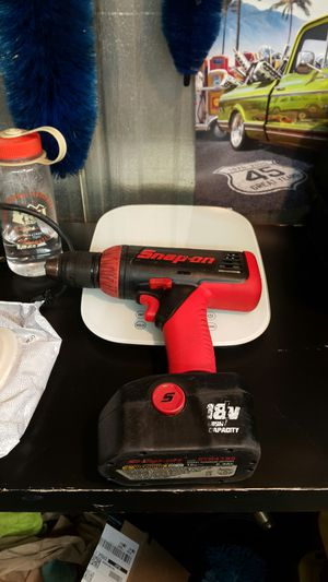 Snap On Drill Driver 18V with battery for Sale in Rancho Cucamonga, CA