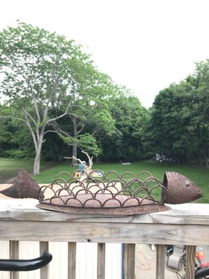 Welded Fish Decoration or plant holder for Sale in Danvers, MA
