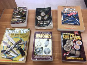 Vintage books on knives and watches for Sale in West Covina, CA