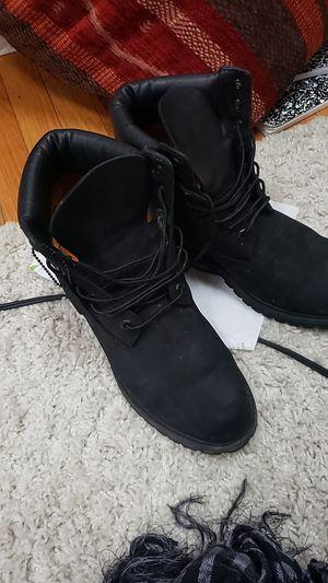 Men's timberland waterproof Boots Black 10073  for Sale in Springfield, VA