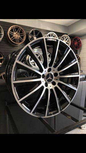 19x8.5 5x112 et45 Black machine face wheels AMG style fits cla and c class C300 cla250 rim wheel tire shop for Sale in Tempe, AZ