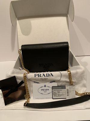 Prada Borsa Portafoglio Saffiano Leather Wallet on Chain Crossbody Clutch for Sale in La Jolla, CA