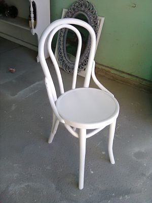 Desk chair painted white (child size) for Sale in Cheektowaga, NY