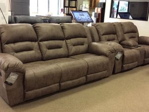 $5 Down for Reclining Sofa & Loveseat — BRAND NEW IN PLASTIC for Sale in Columbus, OH