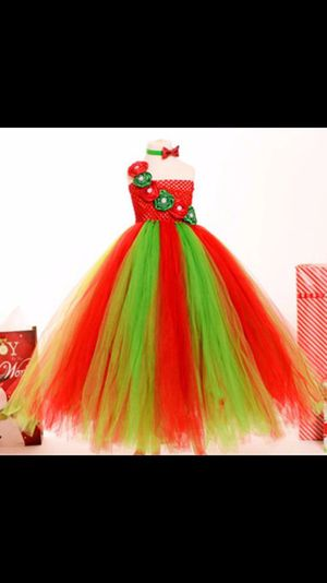 Christmas flower girl tutu dress for Sale in Houston, TX