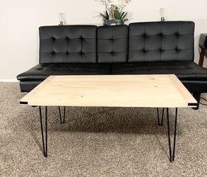 Handmade Rustic Modern Design Coffee Table (Wood & Steel) for Sale in Wilsonville,  OR