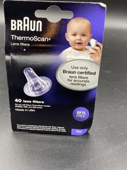 (40) GENUINE Braun Thermoscan Ear Thermometer Lens Filters / Covers NEW SEALED for Sale in Peoria,  IL