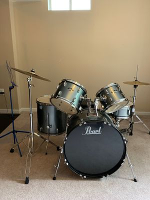 Drum kit, sticks, and practice set with xylophone and practice pad for Sale in Leesburg, VA