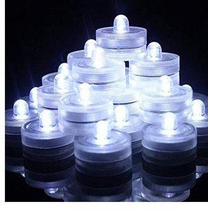 Submersible LED Lights,Waterproof Tea Lights,White Submersible Pool Lights,Underwater Submersible Tea Lights Battery Sub LED Tea Light(Pack of 12) for Sale in La Habra Heights, CA