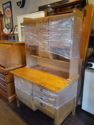 Antique oak kitchen baking cabinet for Sale in Conyers, GA