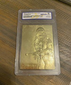1996 Star Wars Darth Vader Edition Chewbacca Limited Edition Card 23kt Gold. WCG 10 graded for Sale in Ocoee, FL