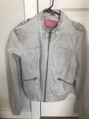 Gray faux leather jacket for Sale in Portland, OR