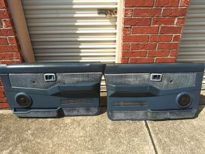 1987-1995 Nissan pickup D21 front door panels blue manual for Sale in Houston, TX