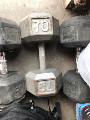 Single 70lbs dumbbell for Sale in Irvine, CA