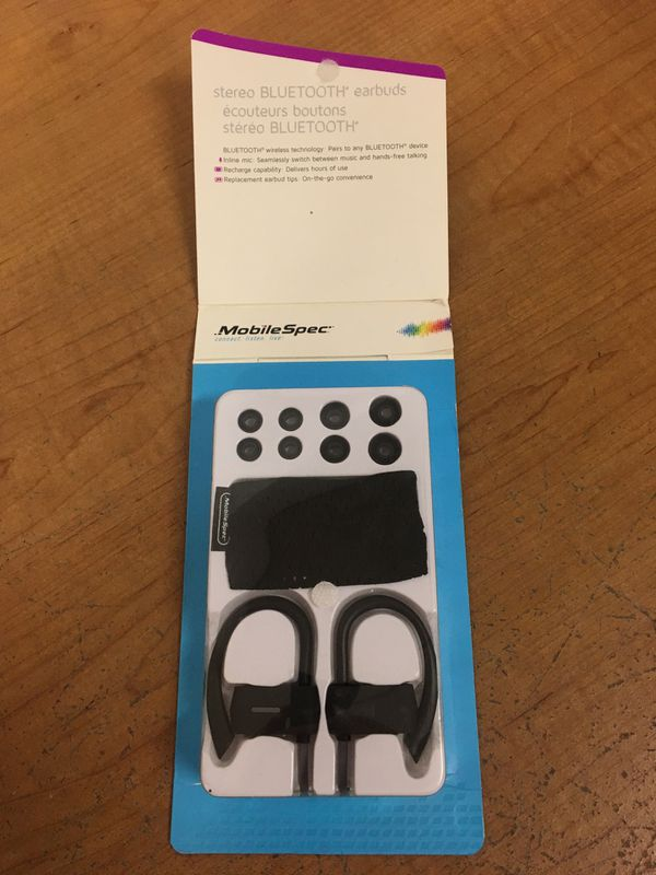 MobileSpec Bluetooth Wireless Earbuds with Ear Clips